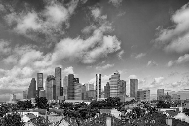 houston texas,houston skyline,black and white,black and white images,houston skyline photos,houston pictures,houston tx,texas cities,black and white pictures, photo