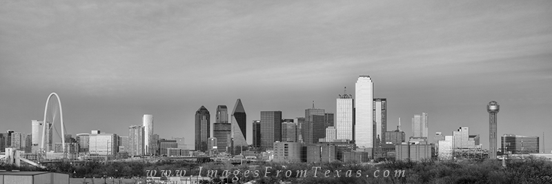 dallas skyline panorama,dallas texas skyline,dallas cityscape,black and white,reunion tower,margaret hill bridge,dallas skyline images, photo