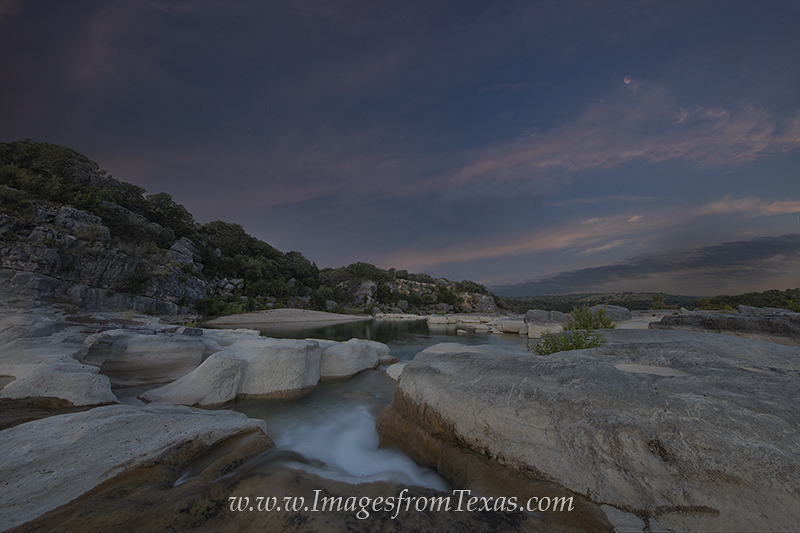 blood moon,texas hill country,pedernales falls,pedernales river,texas landscapes,texas night time images, photo