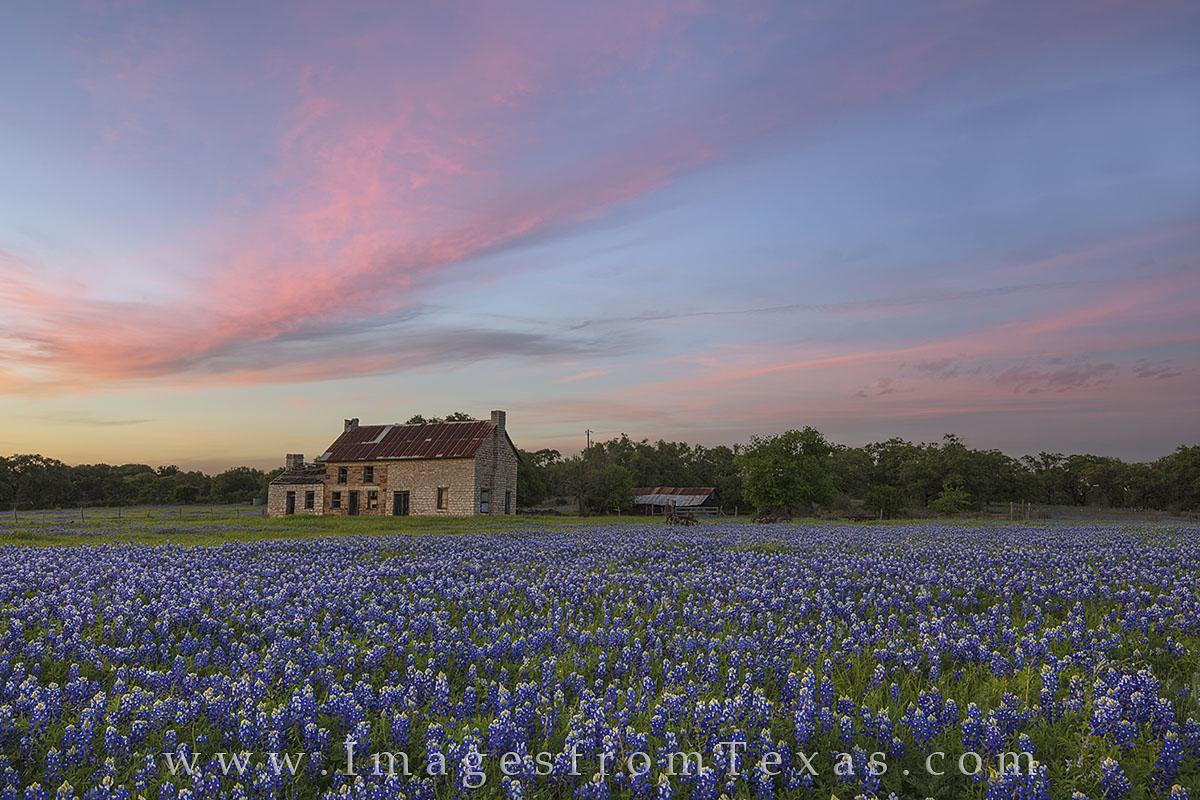 Bluebonnet House April Sunset 1 Texas Hill Country