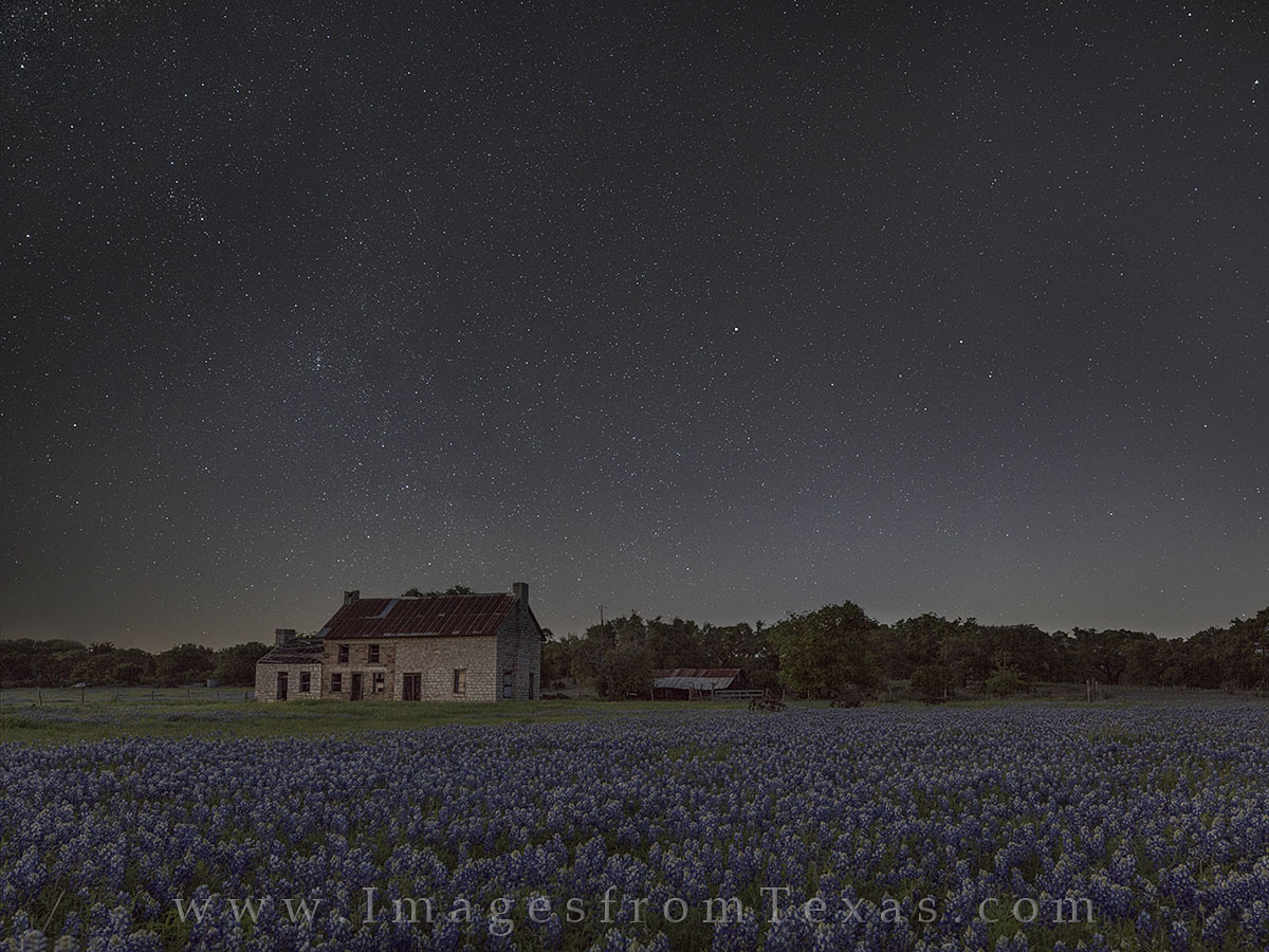 Under starry skies of a clear spring night, this field of bluebonnets in Marble Falls slept in the still air. I arrived early...