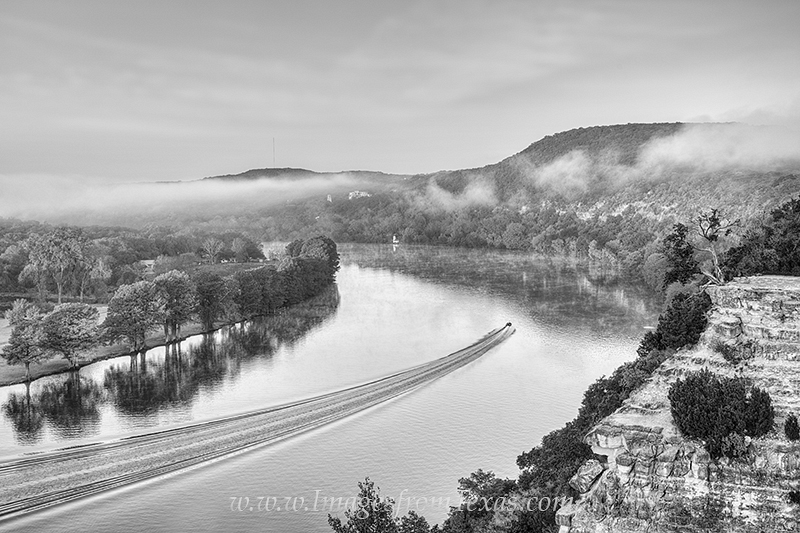 360 bridge,black and white,black white,colorado river,austin images,austin texas images,boating image,boating picture,autumn colors,austin texas,pennybacker bridge, photo