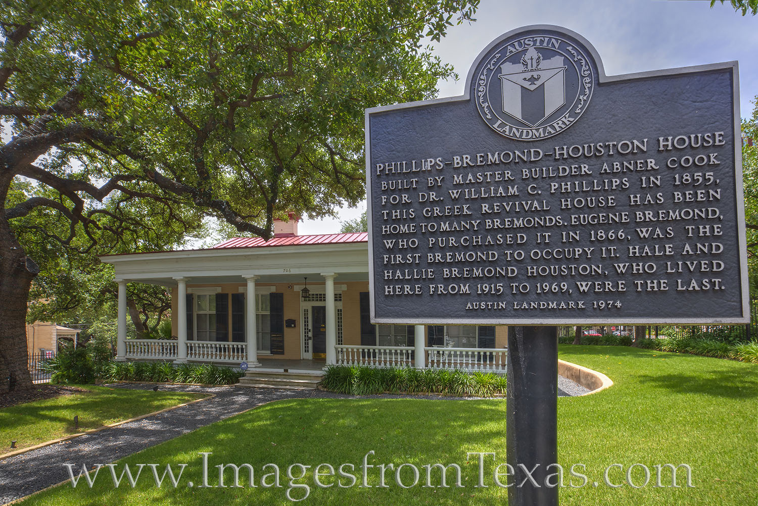 The Phillips-Bremond-Houston House was contructed by Abner Cook in 1855. This house one of 11 houses as part of the Bremond Historic...
