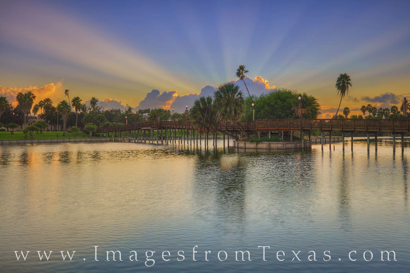 resaca, brownsville, texas southmost college, water, sunrise, bridge, palm trees, texas coast, border town, border, waterway, photo