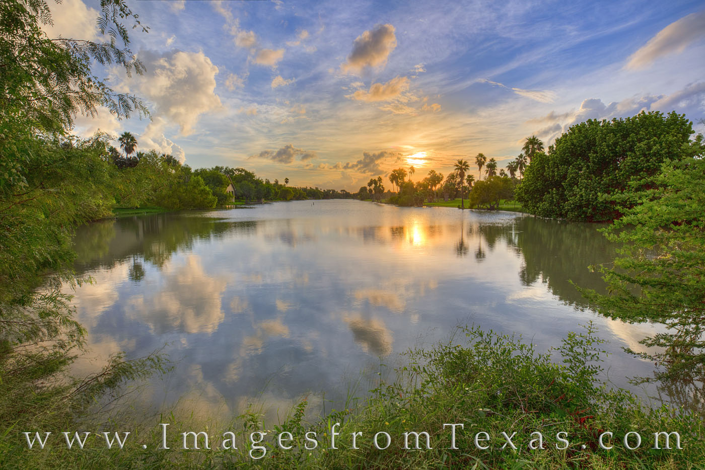 brownsville, south texas, border town, resacas, water, sunset, evening, brownsville resacas, rio grande, photo