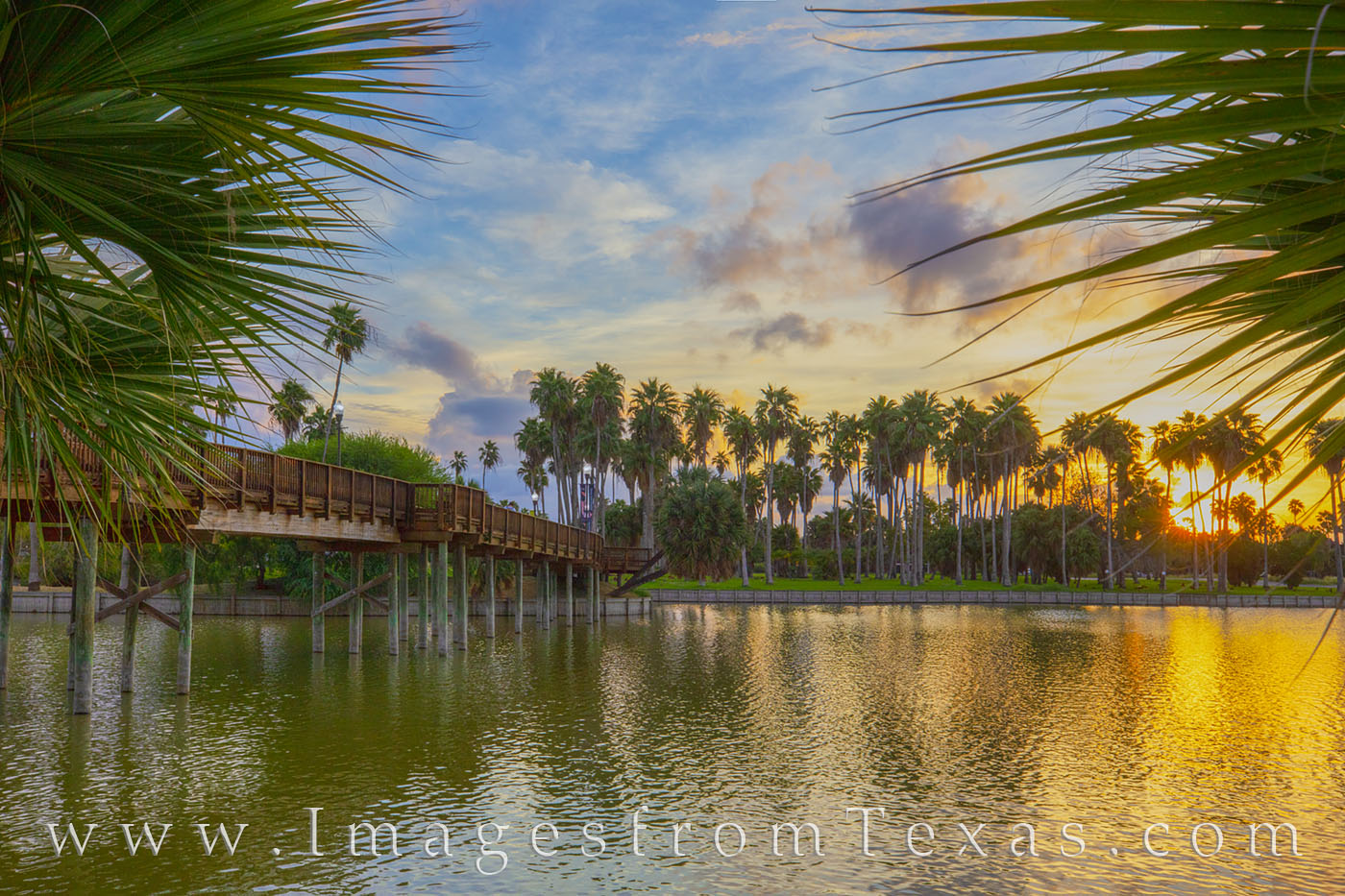 brownsville, resaca, bridge, sunset, water, reflection, south texas, border town, texas coast, photo