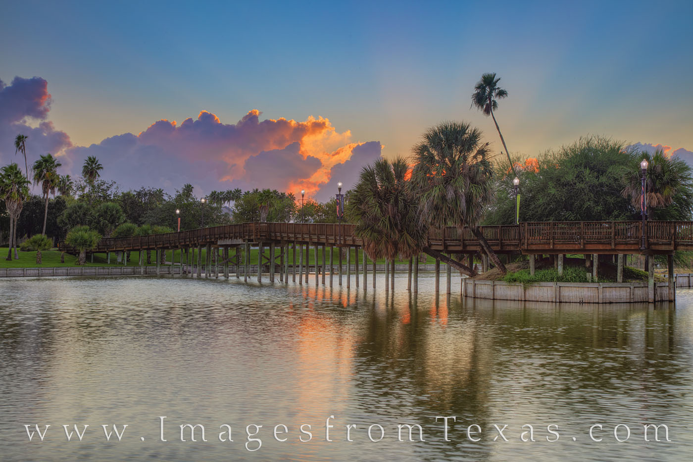 brownsville, south texas, resaca, wooden bridge, sunrise, dawn, texas coast, morning, texas southmost college, photo