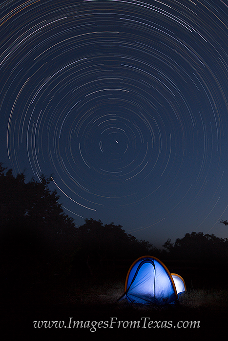 Texa Hill Country,Star Trails images,camping in the hill country, photo