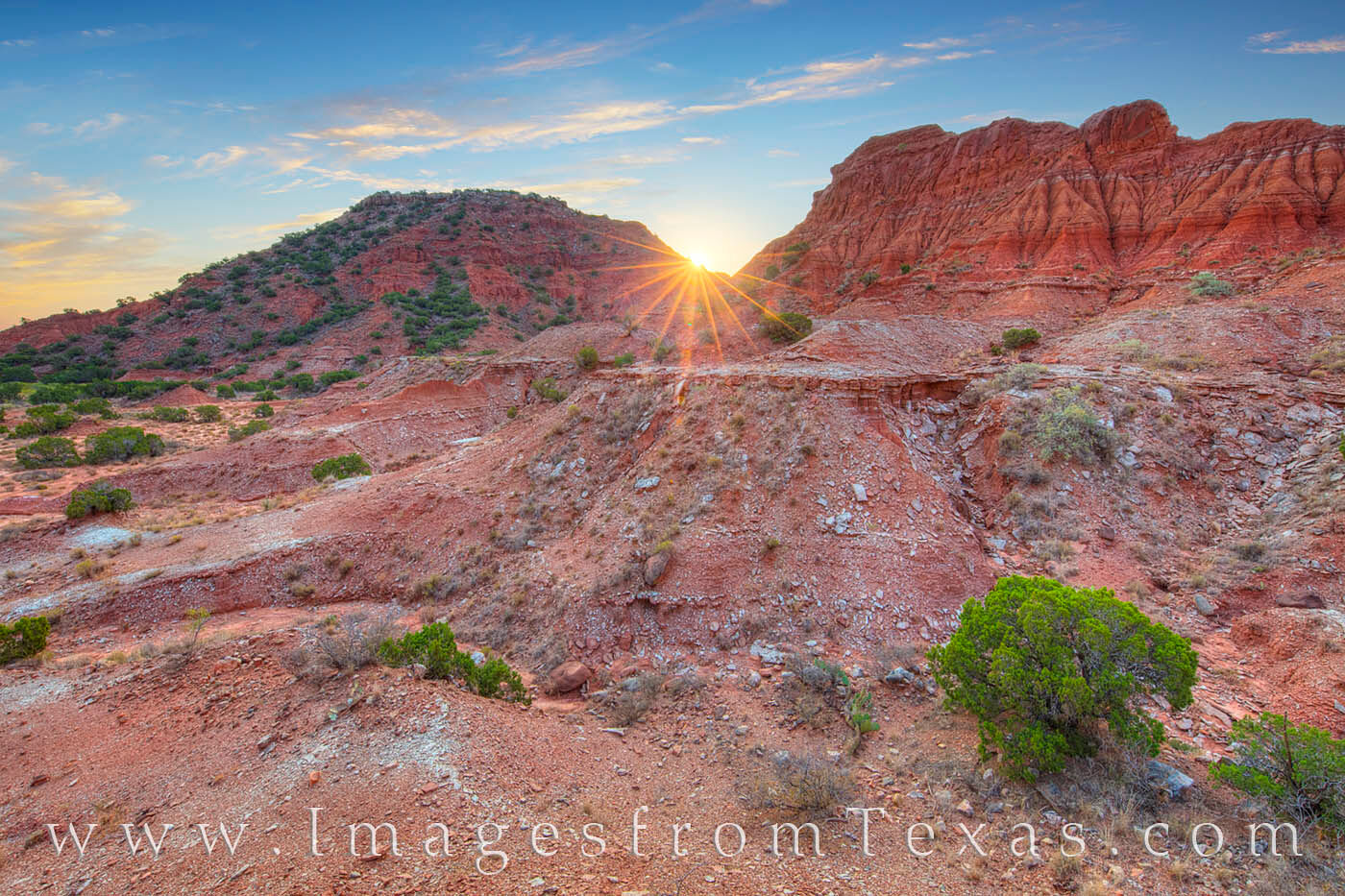 Far away from the big city (or any city), Caprock Canyon is a beautiful and rugged place to explore. This sunrise image was taken...