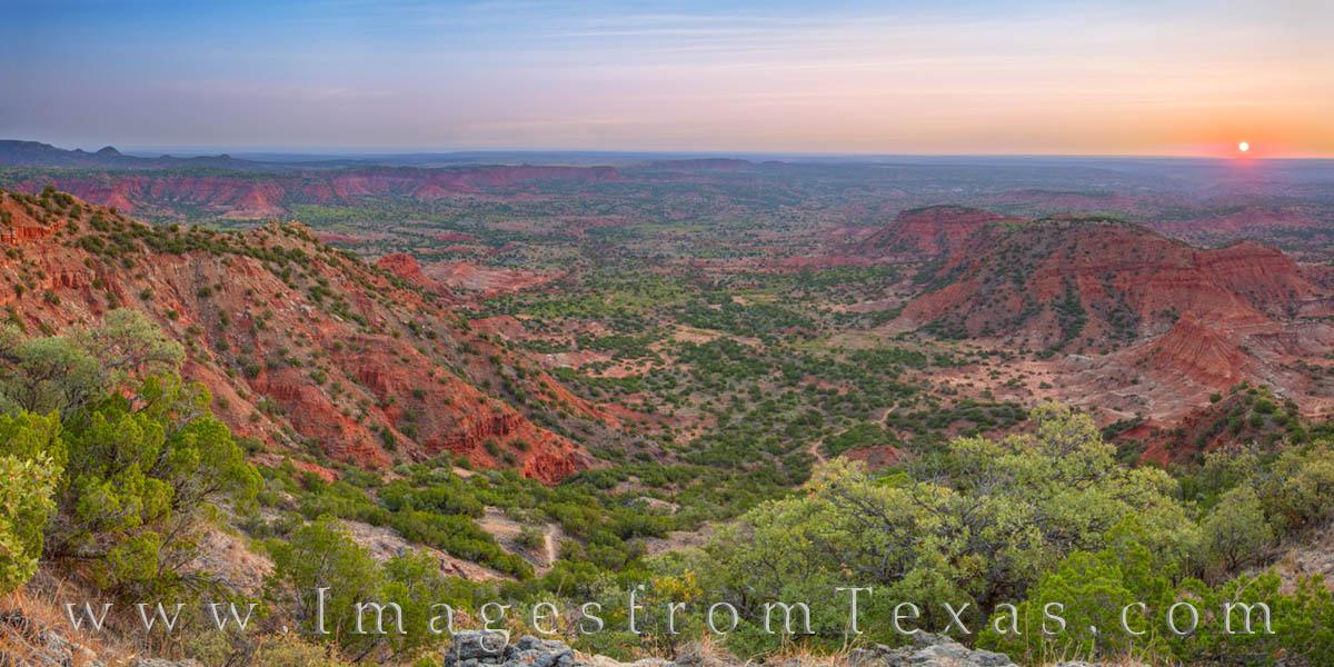 caprock canyon, sunrise, west texas, haynes ridge, overlook, desert, panorama, photo