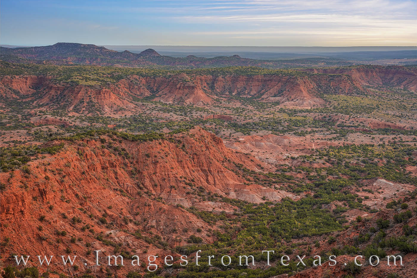 From 600 feet above the valley floor, this west Texas landscape shows the breathtaking view from the Haynes Ridge Overlook. The...