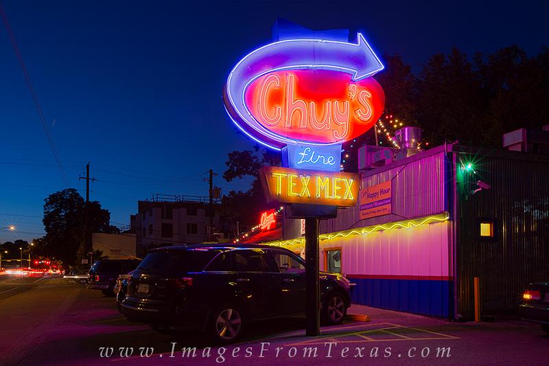 austin images,austin texas photos,chuys tex-mex sign, photo
