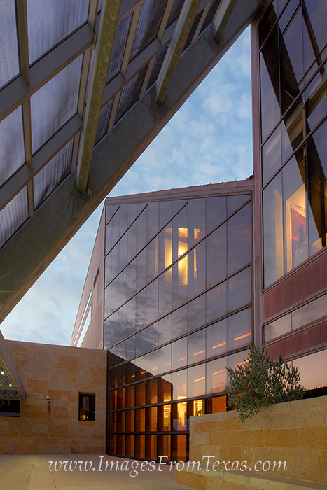 Angles and distinct architecture define the newly constructed City Hall in Austin, Texas. This image attempts to capture some...