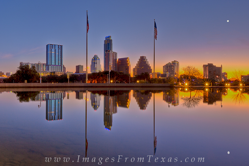 austin cityscape,downtown austin,long center, photo