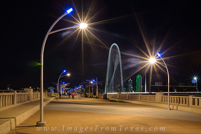 Continental Avenue Bridge,Margaret Hunt Hill Bridge,reunion tower,dallas skyline photos,dallas cityscape,dallas night scenes, photo