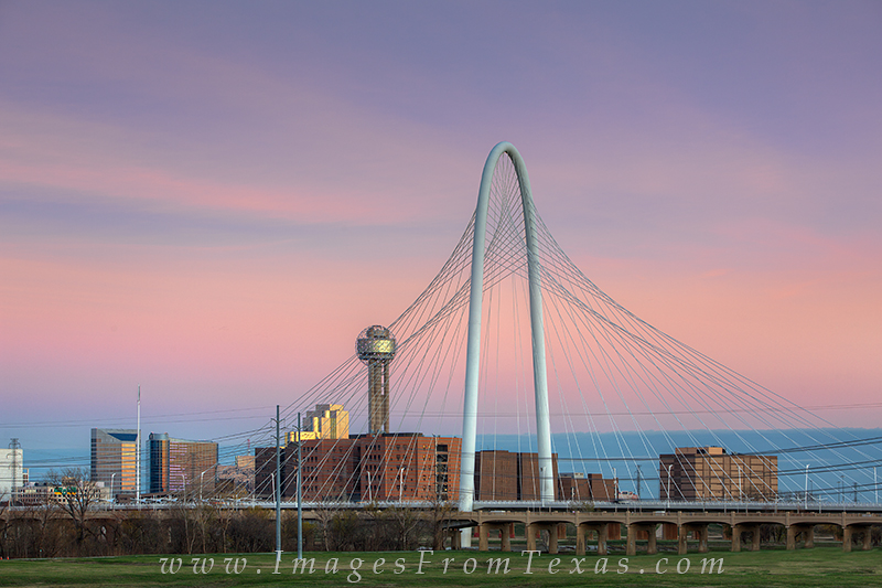 dallas skyline pictures,dallas skyline prints,Margaret Hunt Hill Bridge,bank of america plaza,texas skylines,dallas texas images, photo