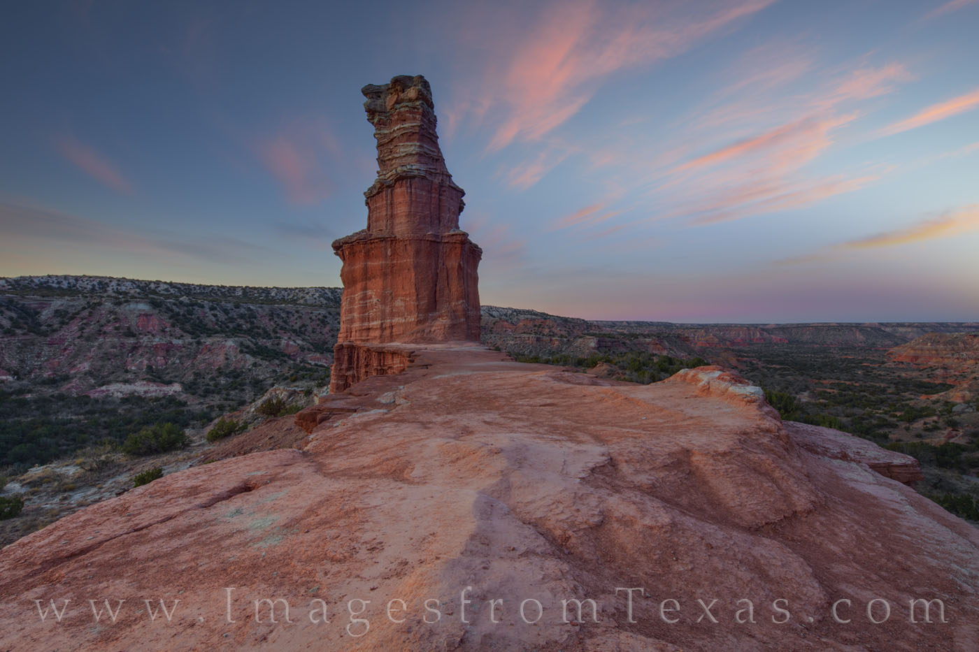 the lighthouse, hiking, palo duro canyon, lighthouse trail, evening, december, texas panhandle, photo