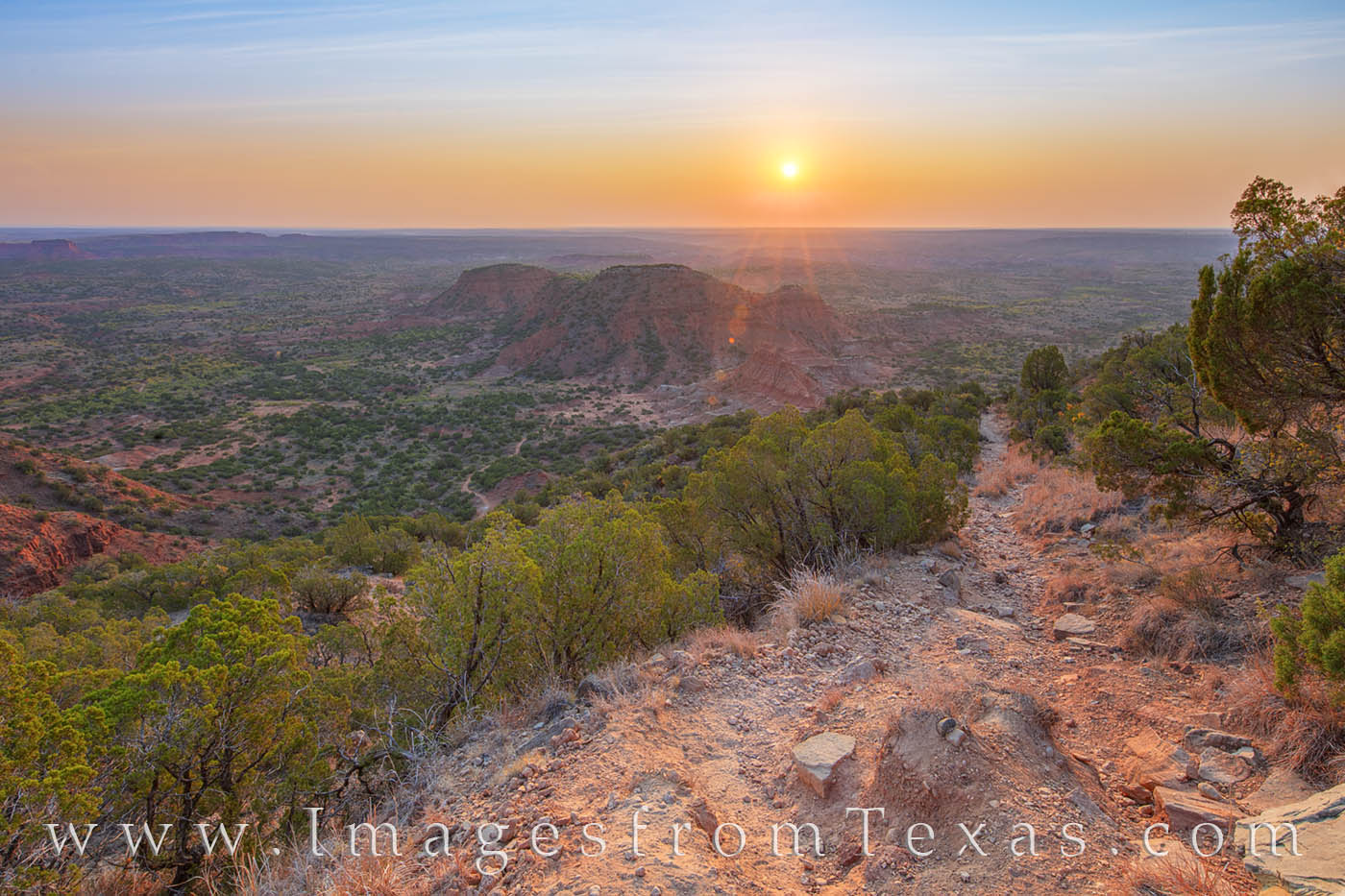 After a hike up in the dark and a few hours photographing the west Texas sunrise from Haynes Ridge in Caprock Canyons State Park...