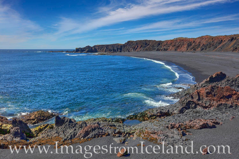 "Djúpalónssandur beach is a beautiful black pebbled beach along the Snæfellsnes Peninsula. Four ""lifting stones"" remain on..."