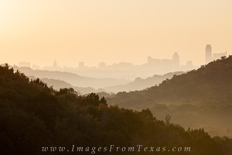 austin in fog,austin skyline in fog,downtown austin,texas cities, photo