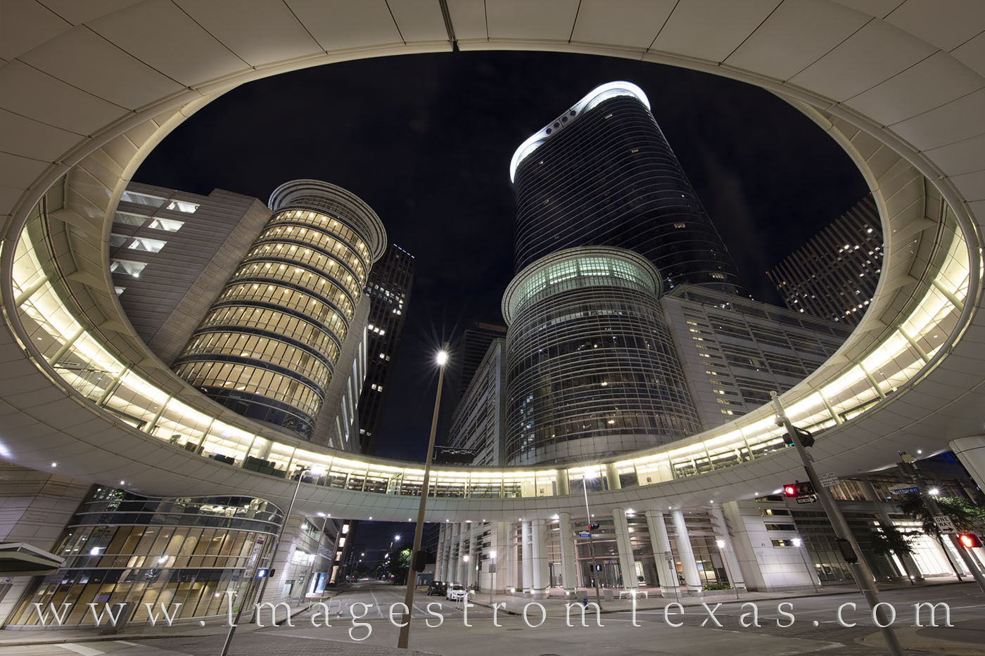 chevron building, downtown houston, skyscrapers, highrises, downtown, night, architecture, photo