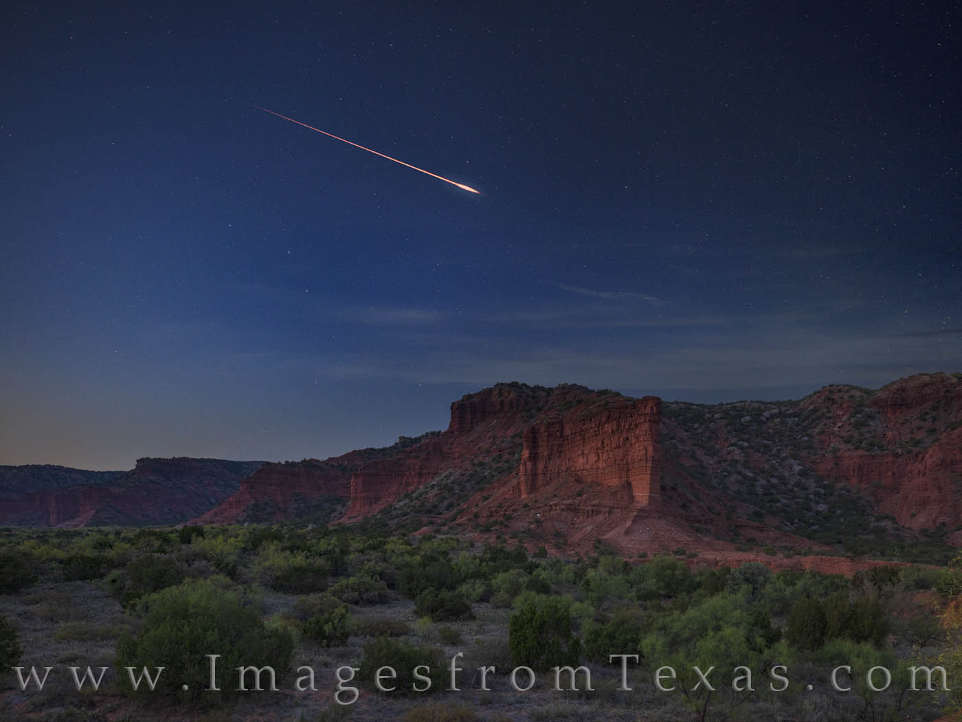 caprock canyons, night sky, draconids, meteors, state park, west texas, photo