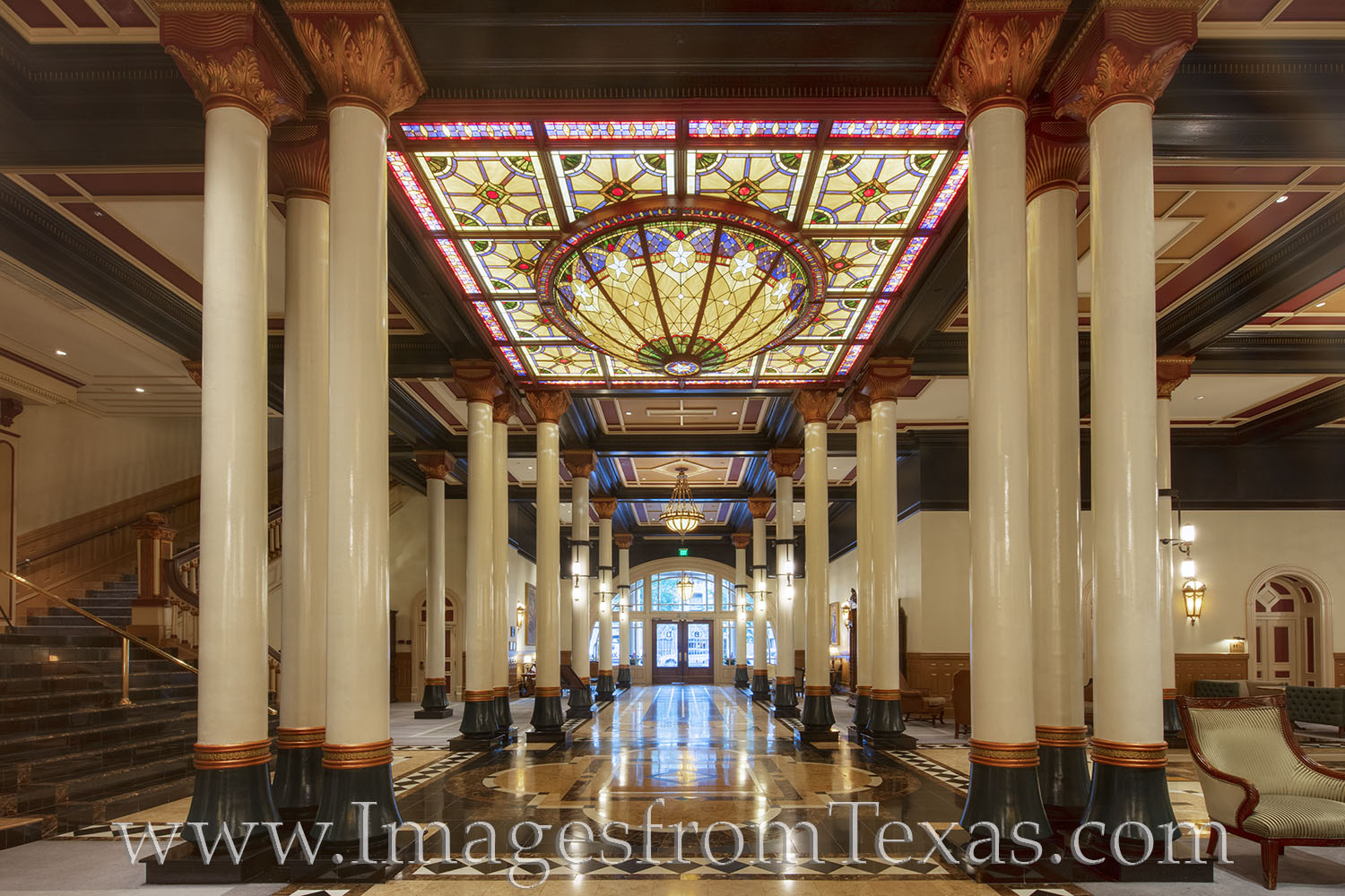 driskill hotel, 6th street, downtown austin, photo