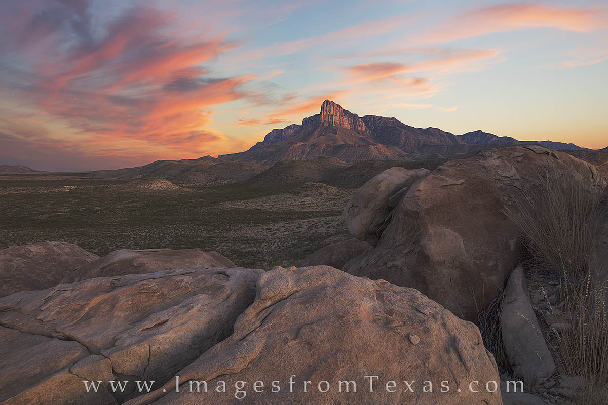 guadalupe mountains, guadalupe mountains national park, el capitan, guadalupe mountains photos, texas national park images, el capitan photos, texas desert, williams ranch road, photo