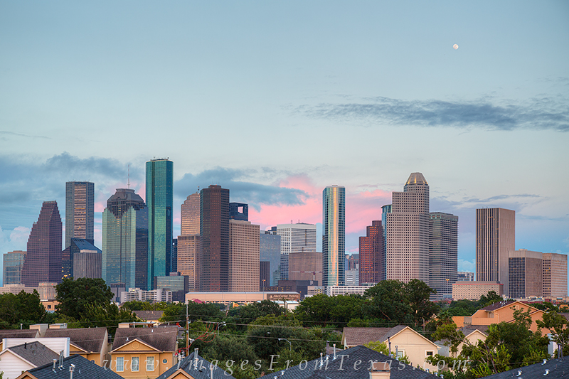 houston texas prints,images of houston,images of the houston skyline,downtown houston prints, photo