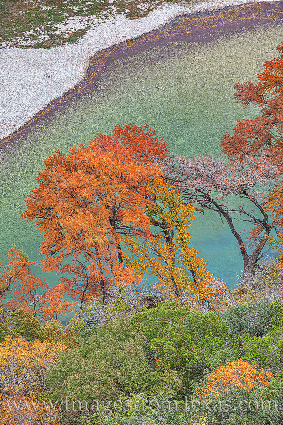 Frio River, Garner State Park, Old Baldie, fall colors, autumn, november, hill country, photo