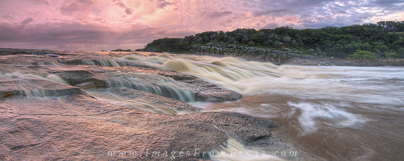 Flood at Pedernales Falls Panorama 1 : Pedernales Falls ...