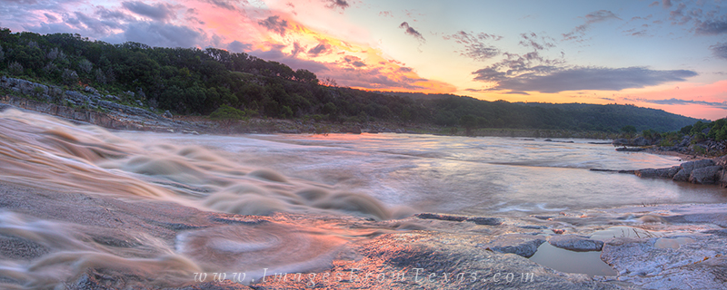 texas hill country panorama,pedernales falls state park,texas floods,texas flood images,pedernales river,texas landscape images,texas hill country prints, photo