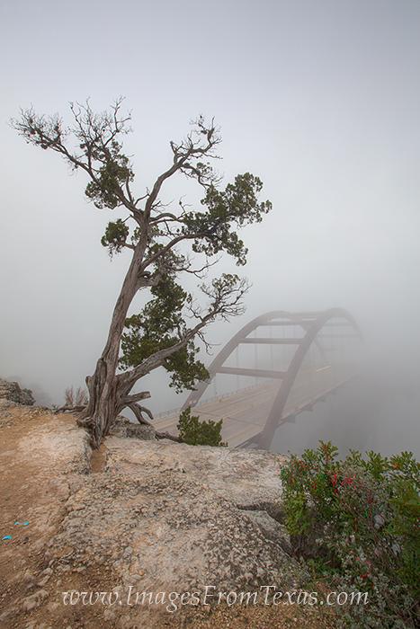 360 bridge in fog,360 bridge prints,pennybacker bridge,austin bridge images, photo