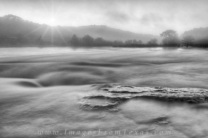 Pedernales falls state park,texas hill country,sunrise,fog,texas state parks texas hill country photos, photo