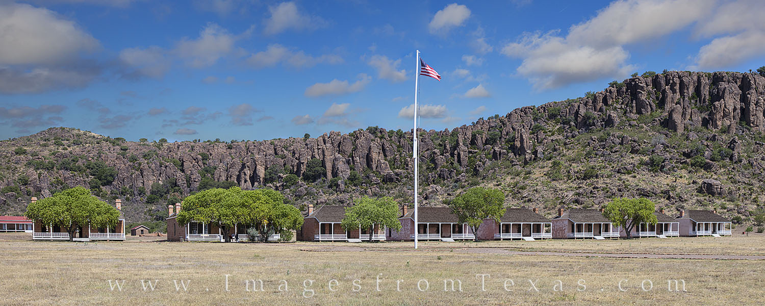 fort davis images, fort davis panorama, fort davis national historic site, officers row, davis mountains, fort davis, west texas, texas frontier, photo