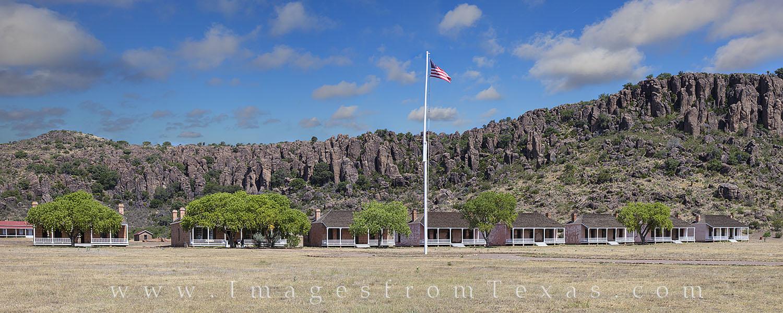fort davis images, fort davis panorama, fort davis national historic site, officers row, davis mountains, fort davis, west texas, texas frontier, photo