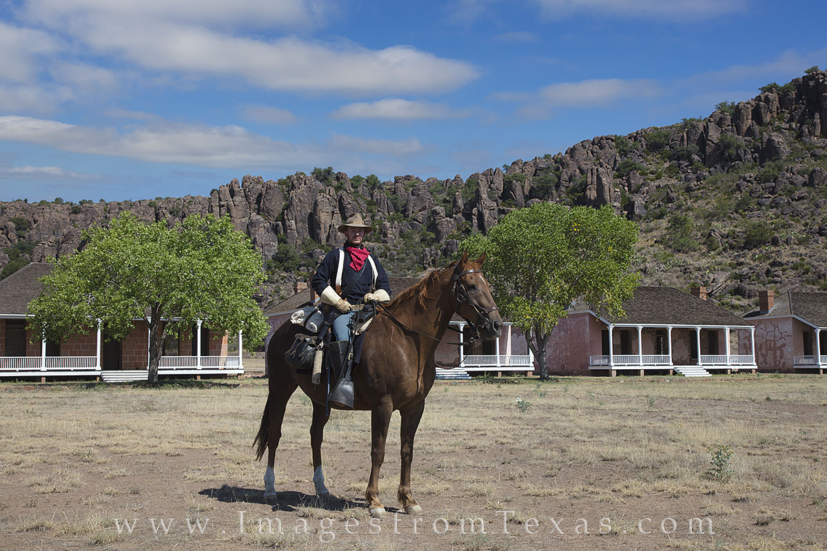 From the hallowed and historic grounds of Fort Davis, this ranger was kind enough to pose for me on this warm summer morning....