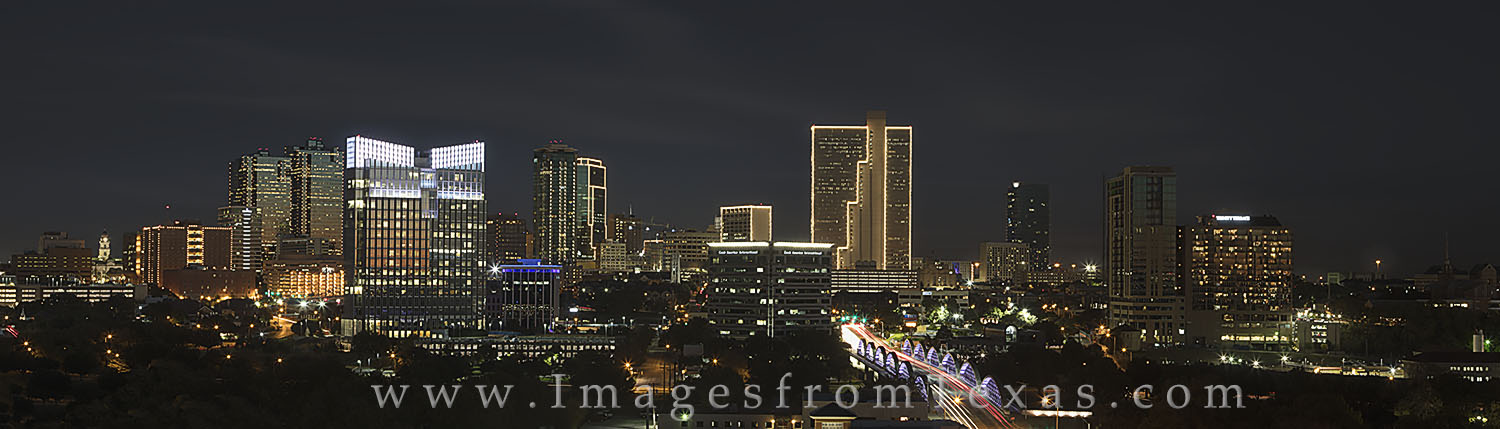 ft worth skyline, fort worth skyline, ft worth images, fort worth photos, downtown fort worth, 7th street bridge, burnett plaza, texas skylines, photo