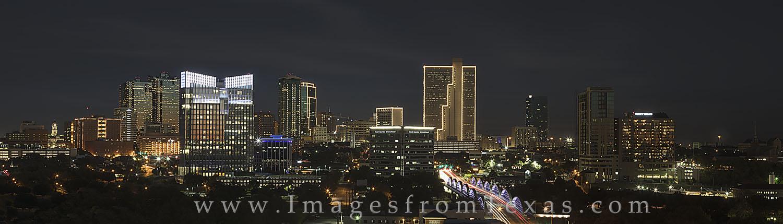 ft worth skyline, fort worth skyline, ft worth images, fort worth photos, downtown fort worth, 7th street bridge, burnett plaza, texas skylines, photo