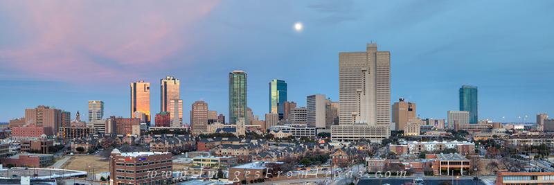 ft worth texas,ft worth pano,ft worth skyline pano, photo