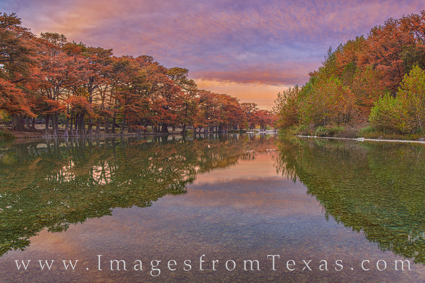 Frio River Fall Sunset 114-1