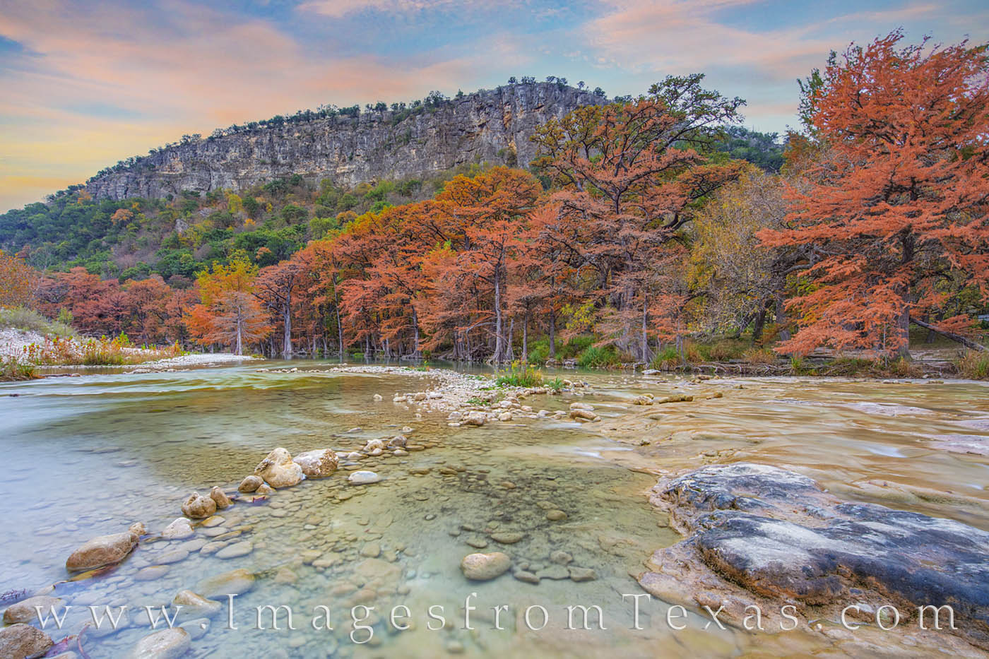 garner state park, frio river, fall colors, cypress, november, texas state parks, autumn, prints, photo