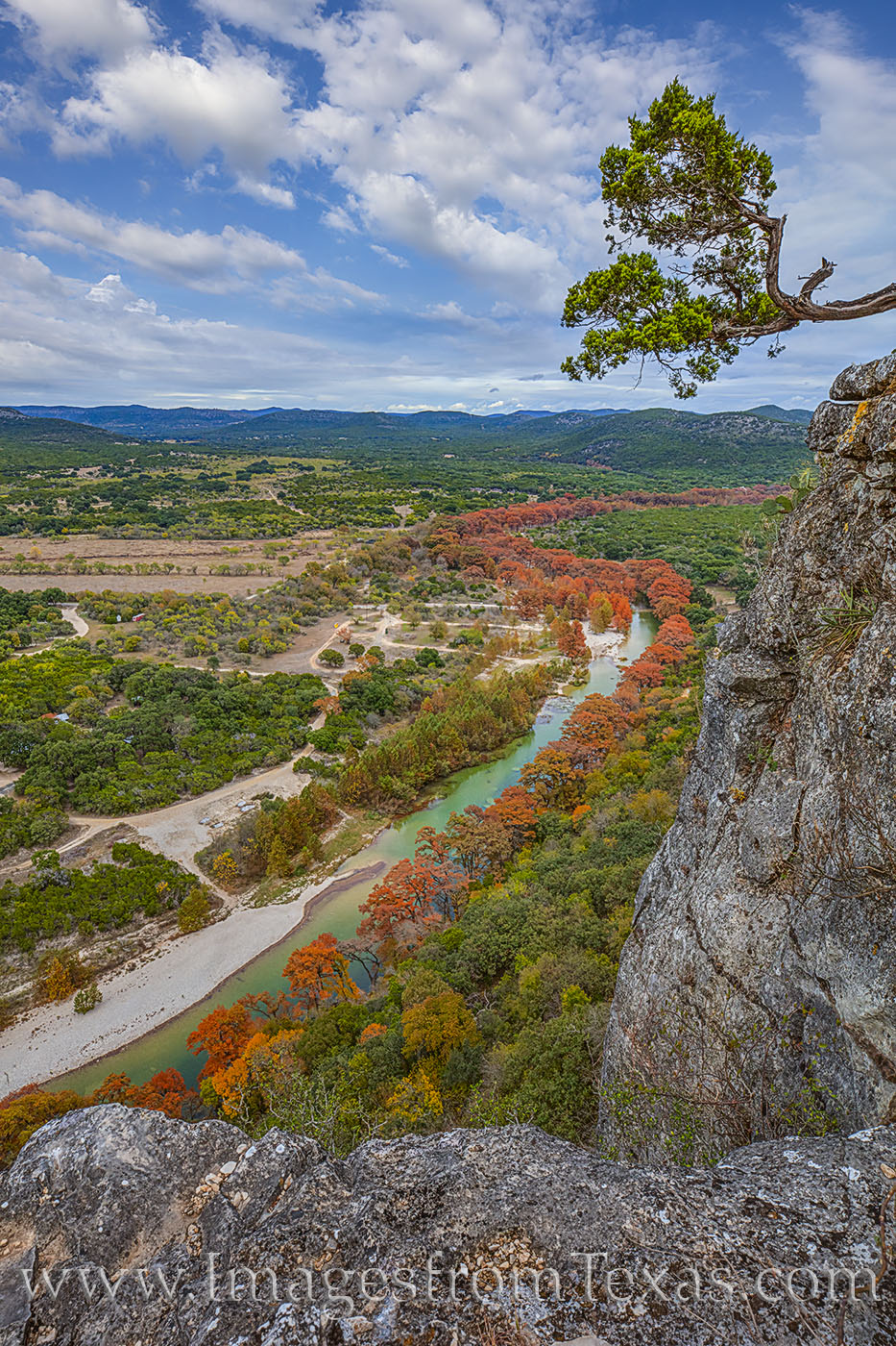 Frio River, Old Baldie, fall, autumn, cypress, orange, hill country, garner state park, photo