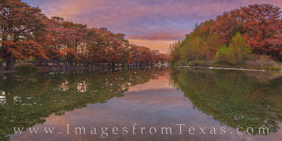 garner state park, fall colors, sunset, cypress, evening, autumn, november, cold, hill country, photo