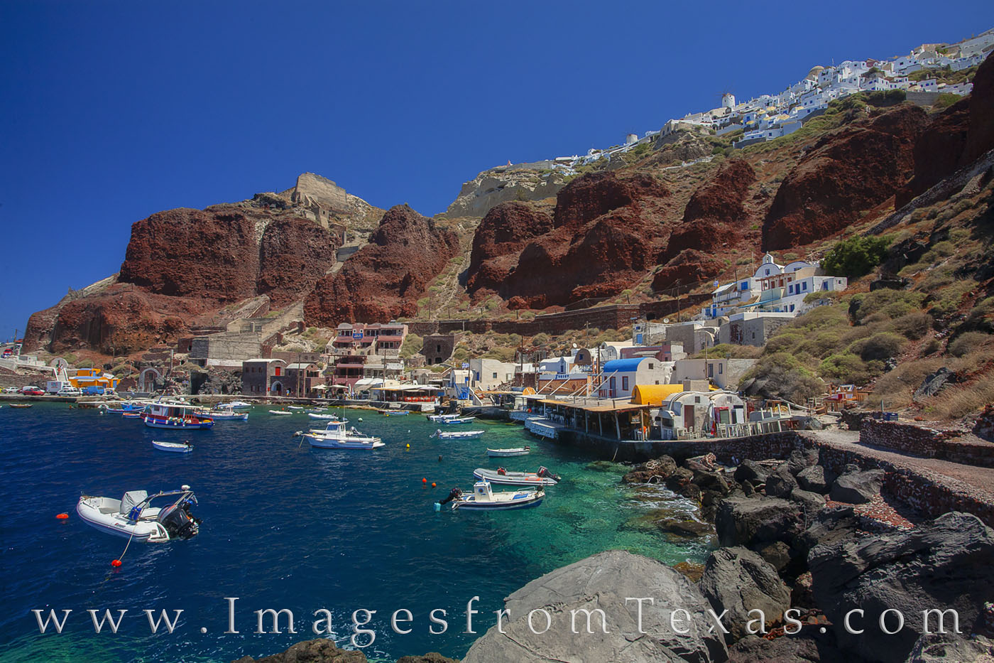santorini, oia, ormos armeni, amoudi bay, greek islands, greece, aegean sea, islands, ocean, travels, photo
