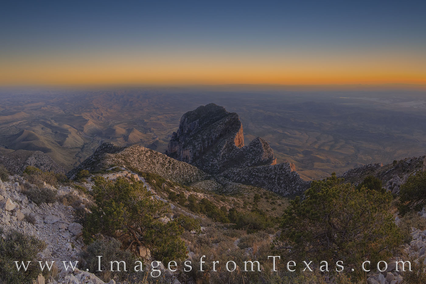 guadalupe peak, el capitan, sunset, spring, hiking, texas hikes, national park, guadalupe mountains national park, chihuahuan desert, hiking, photo