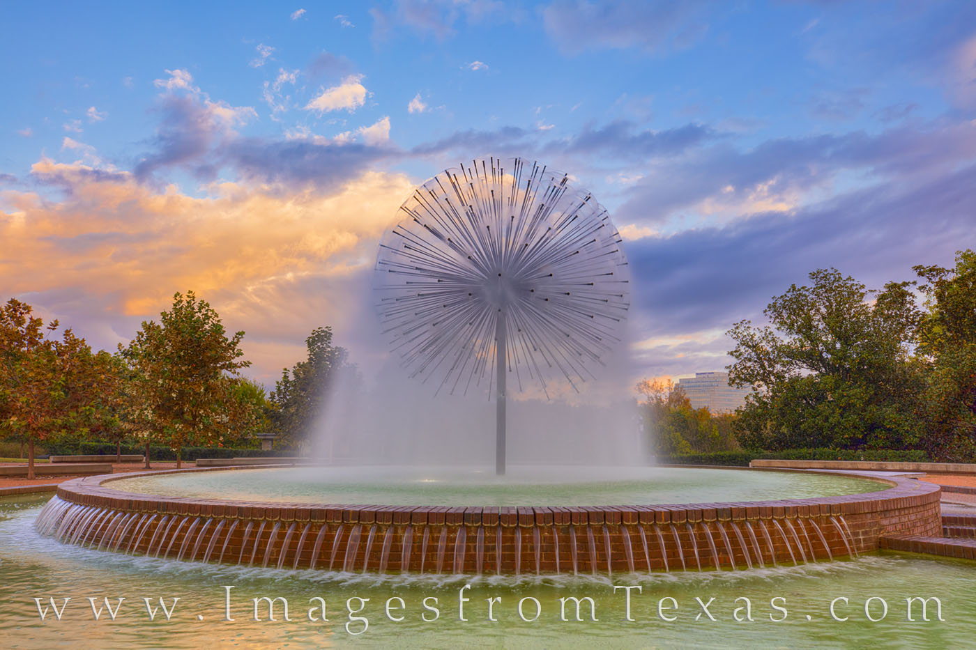 The Gus Wortham Memorial Fountain near Buffalo Bayou in Houston, Texas, was donated by the Wortham Foundation. It is found along...