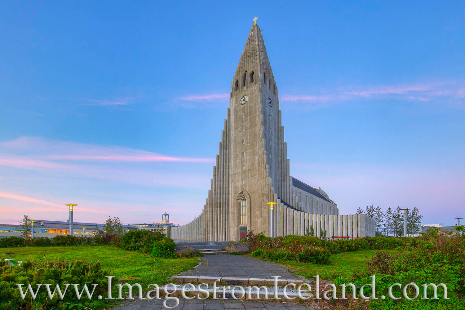 The tallest church in all of Iceland, Hallgrímskirkja, rises 244' tall and was completed in 1986. It is an icon in the center...
