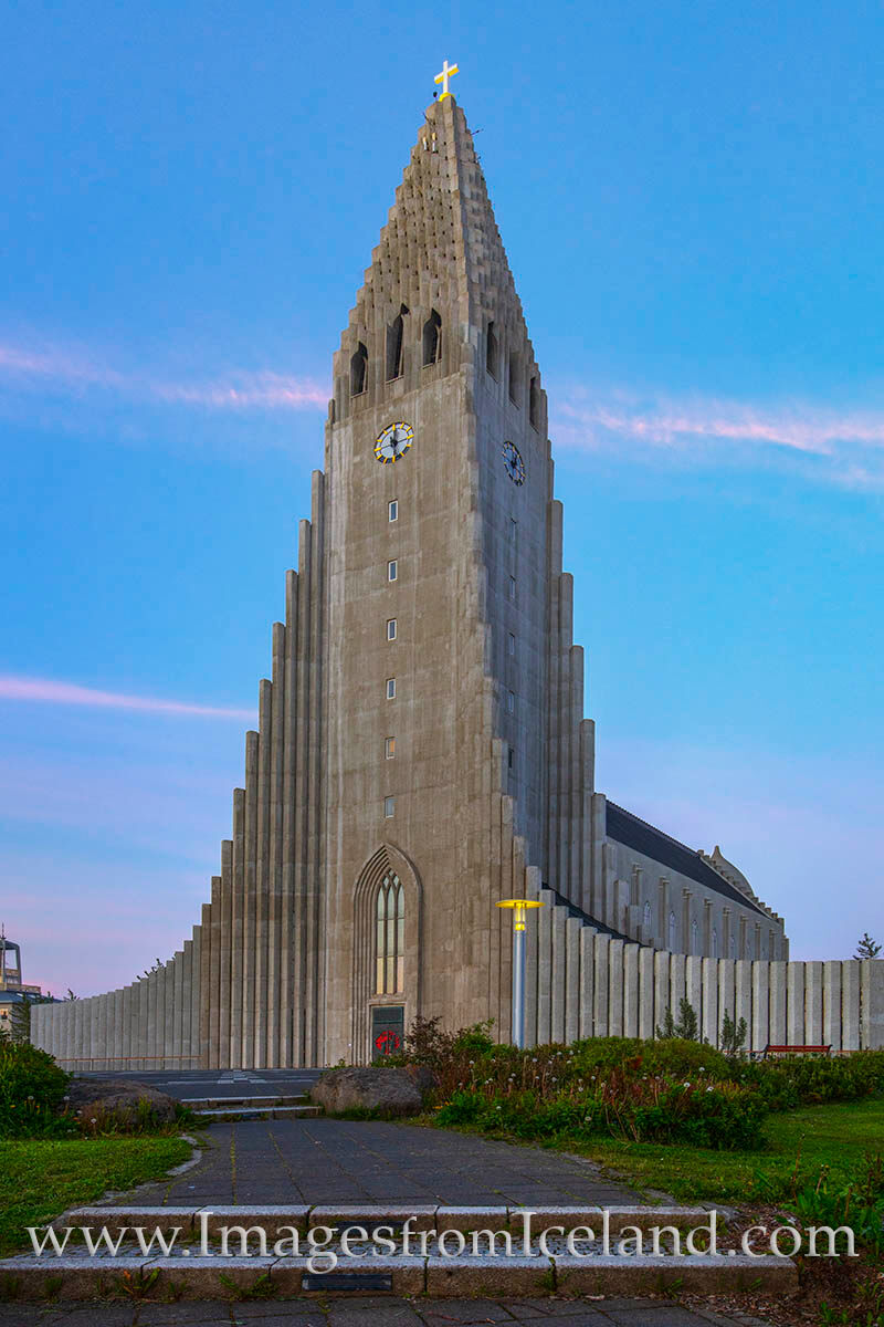 Hallgrímskirkja, the Lutheran Church in the center of Iceland's capital, Reykjavik, stands 74.5 meters tall and was completed...