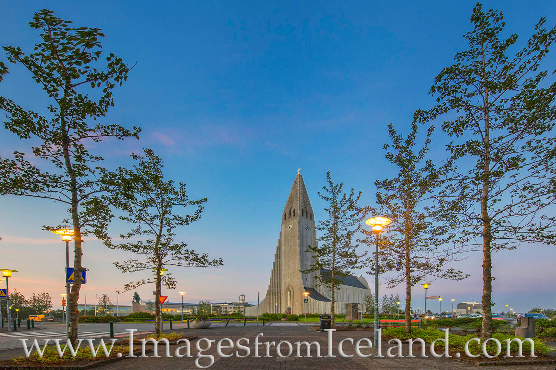 Hallgrímskirkja rises 244 feet into the sky in the Capital city of Rekyjavik. Taken at midnight in abundant natural light, this...